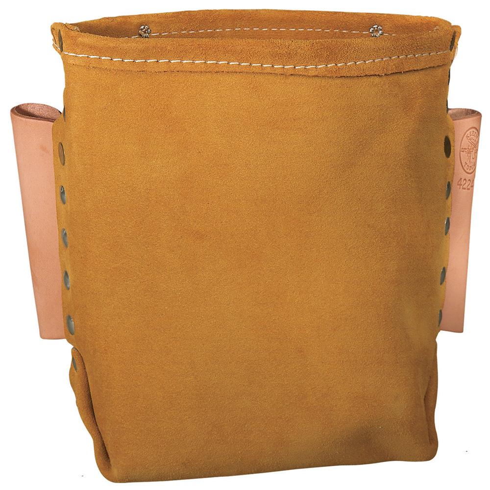 Klein® 42247 Tool Bag, Leather, Brown