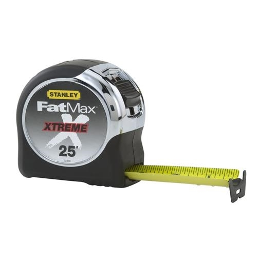 Stanley® FatMax® Xtreme® 33-890 Tape Rule With BladeArmor, 25 ft L x 1-1/4 in W Blade, Mylar® Polyester Film Blade, Imperial Measuring System