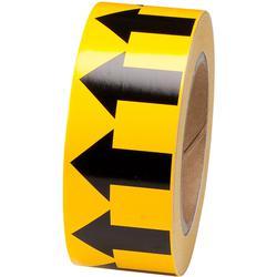 Brady® 106177 Self-Adhesive Arrow Tape, Black on Yellow, 30 yd L x 2 in W x 0.006 to 0.01 in THK, B-302 Polyester