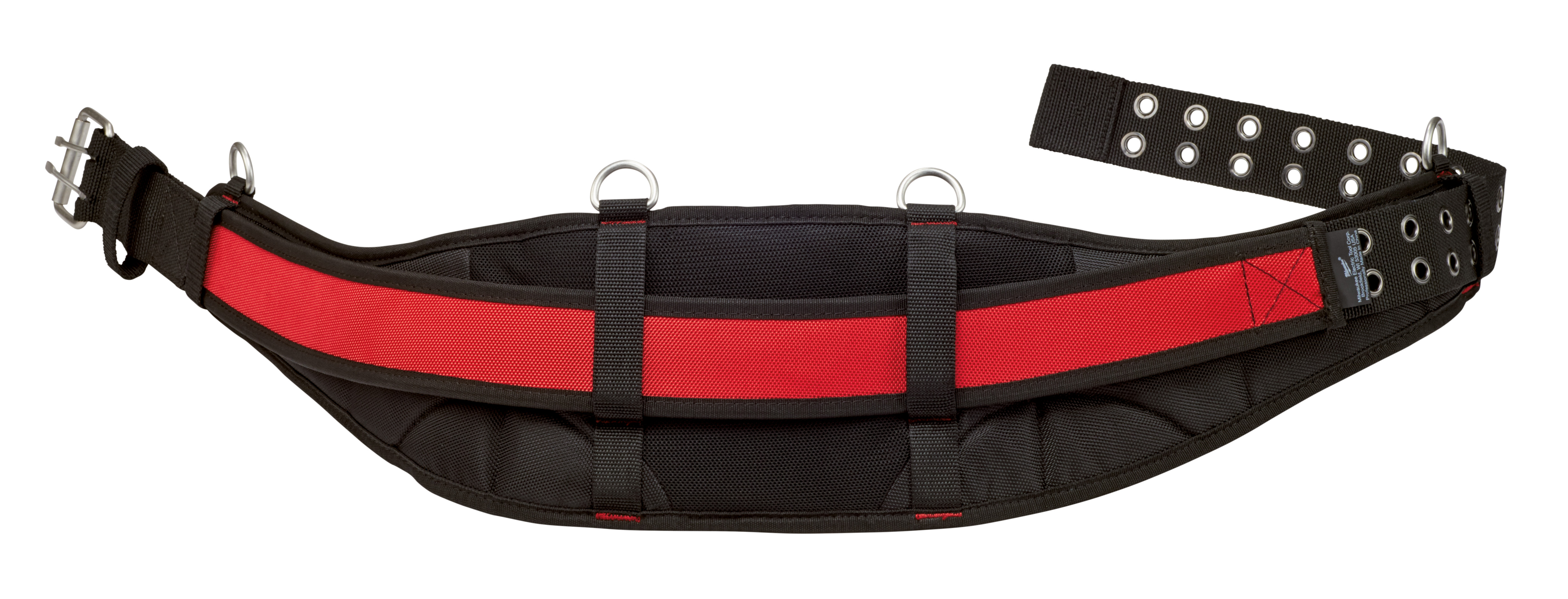 Milwaukee® 48-22-8140 Universal Padded Work Belt, Denier Ballistic Nylon, Black/Red