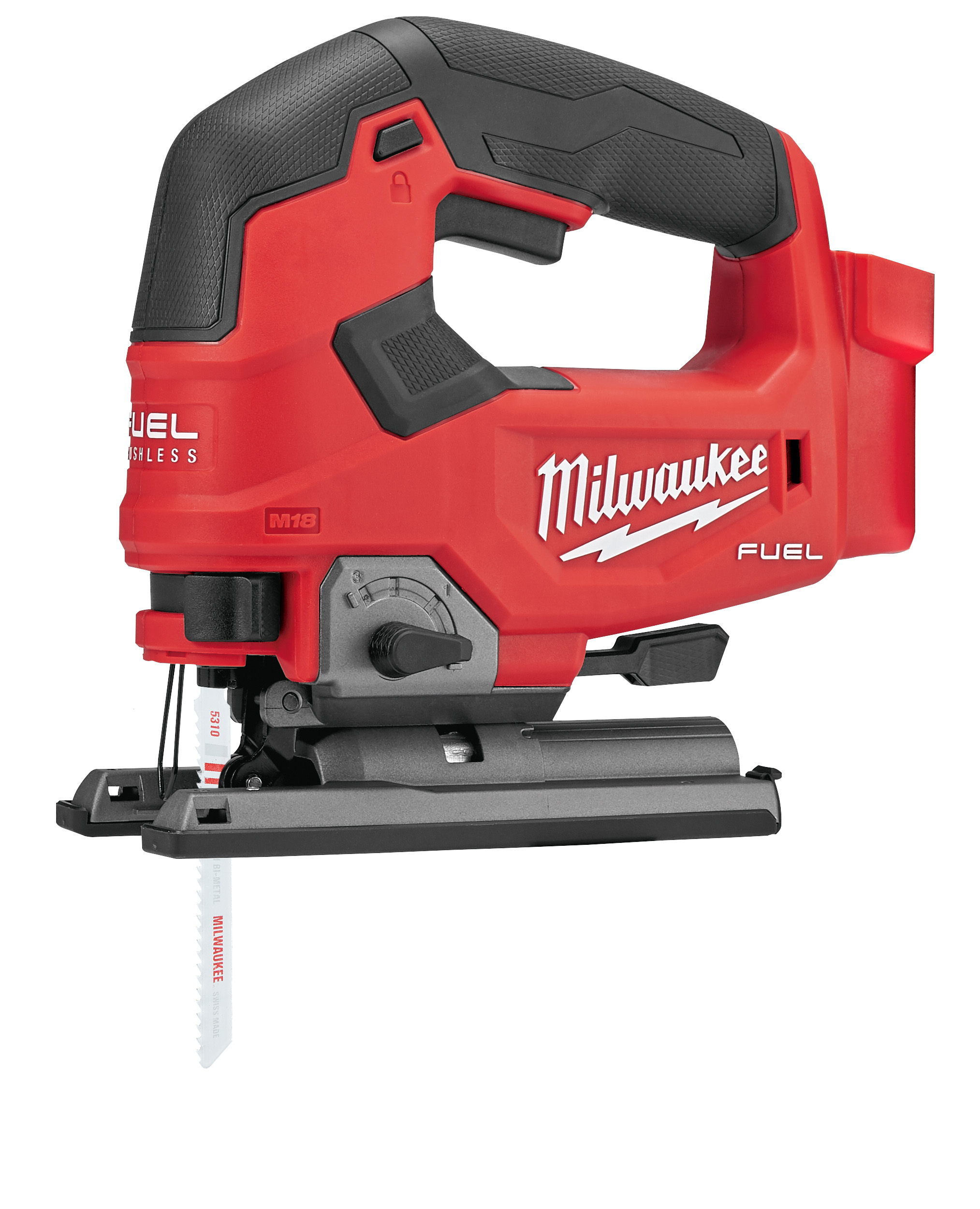 Milwaukee® 2737-20 M18 FUEL™ Cordless Jig Saw, 18 VDC, For Blade Shank: T-Shank, 9.13 in OAL, REDLITHIUM™ Battery, Tool Only