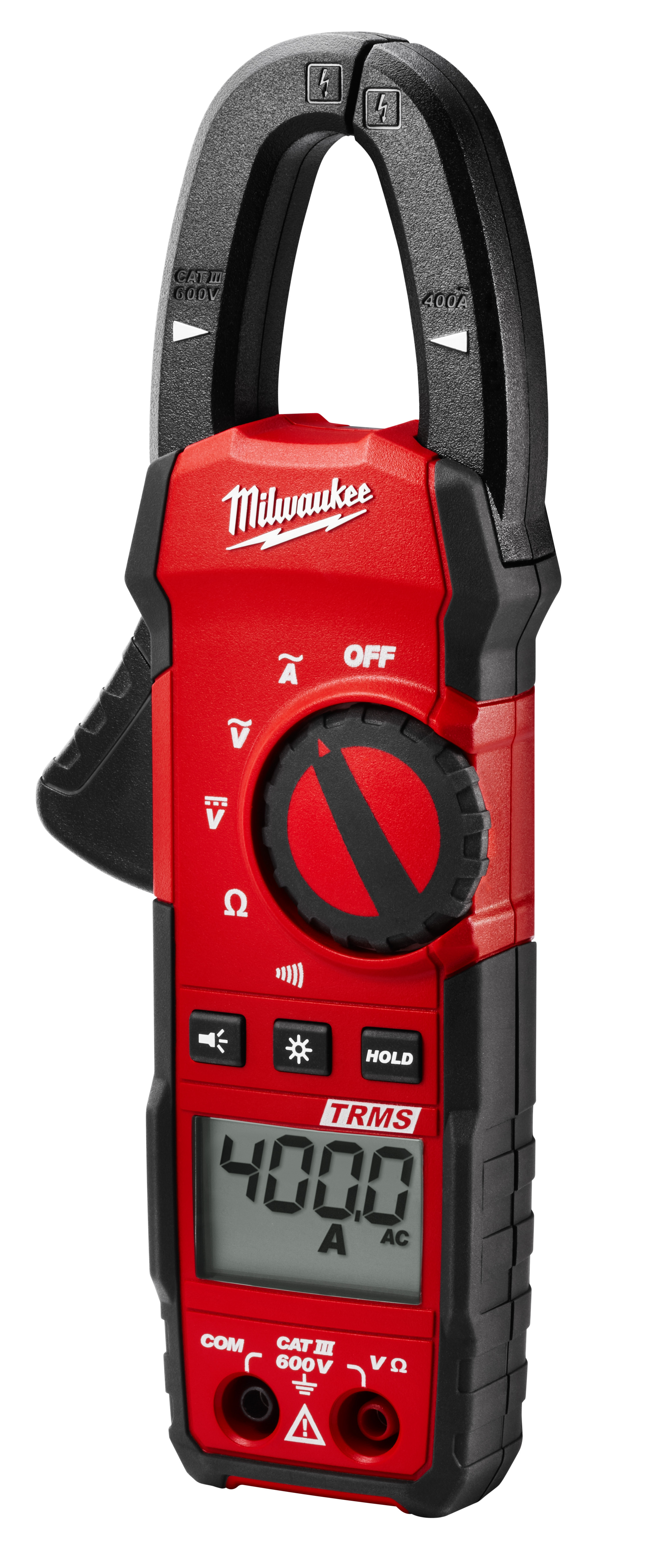 Milwaukee® 2235-20NST Clamp Meter Kit, 400 Ohm, 1 in Jaw, Backlit LCD Display