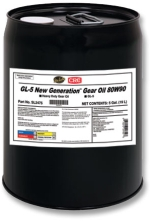 Sta-Lube® SL2475 API/GL-5 Plus New Generation Heavy Duty Limited Slip Non-Flammable Gear Oil, 5 gal Pail, Mild Petroleum Odor/Scent, Liquid Form, SAE 80W90 Grade, Dark Amber