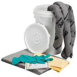 SPC® ALLWIK® SKA-BKT Portable Spill Kit, 6.5 gal Bucket, Fluids Absorbed: Universal