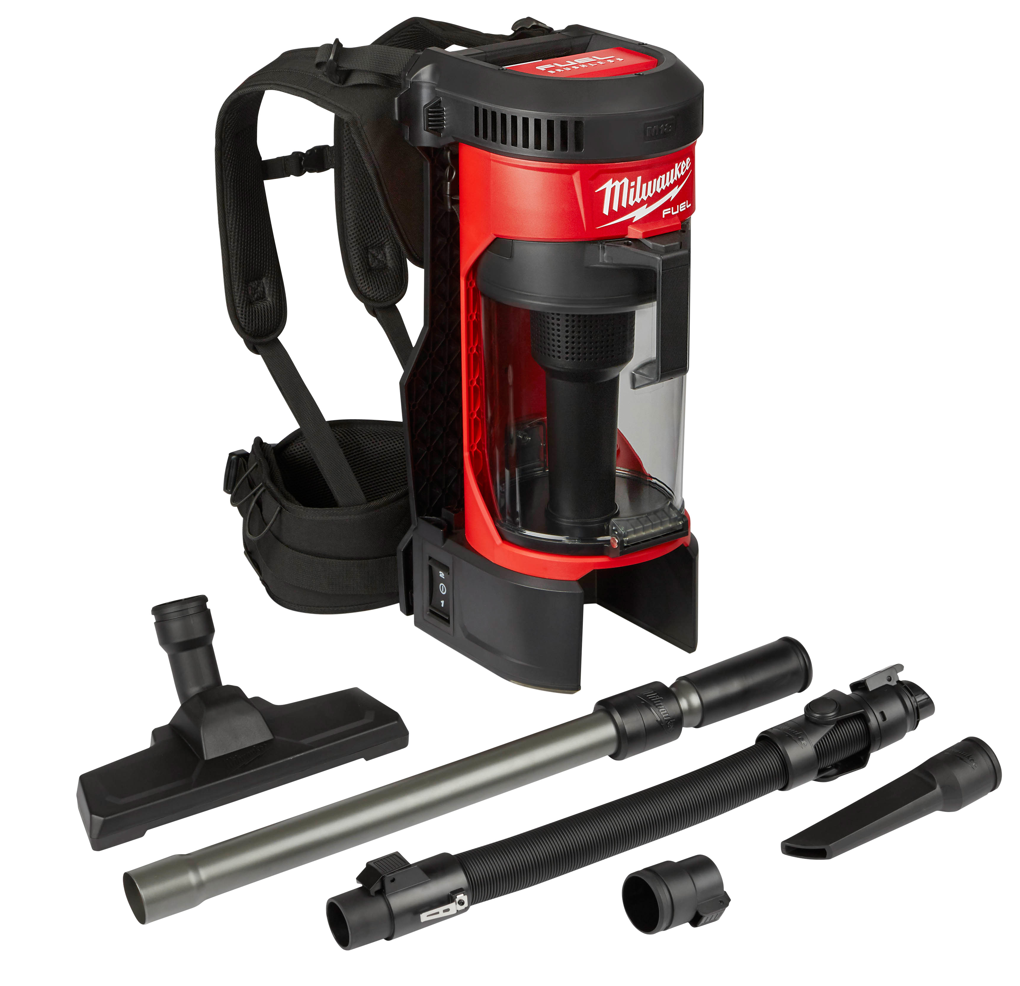 Milwaukee® M18™ FUEL™ 0885-20 3-in-1 Cordless Backpack Vacuum, 1 gal Tank, 159 W Power Rating, 18 VDC