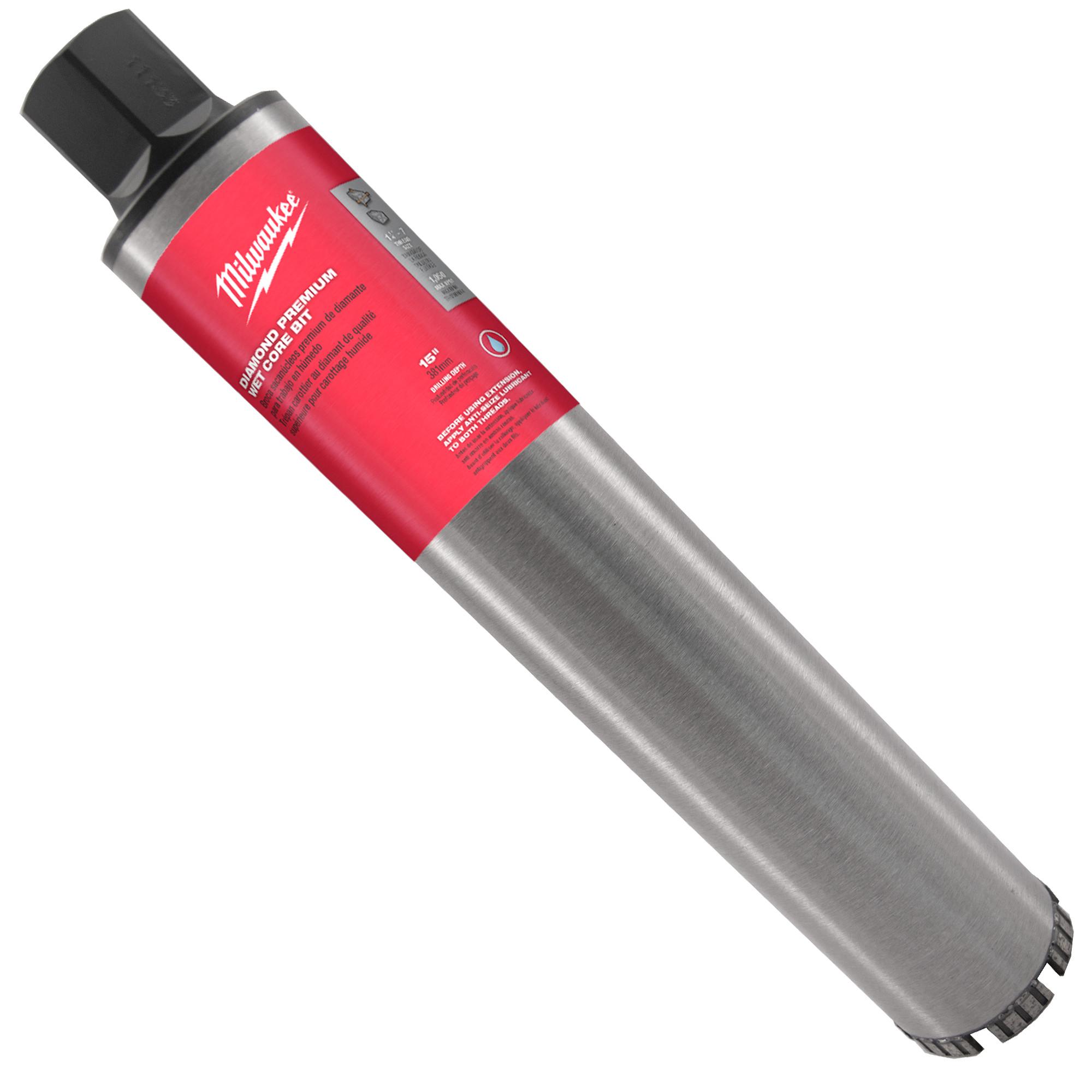 Milwaukee® 48-17-3035 Premium Grade Wet Core Bit, 3-1/2 in Drill - Fraction, 3.5 in Drill - Decimal Inch