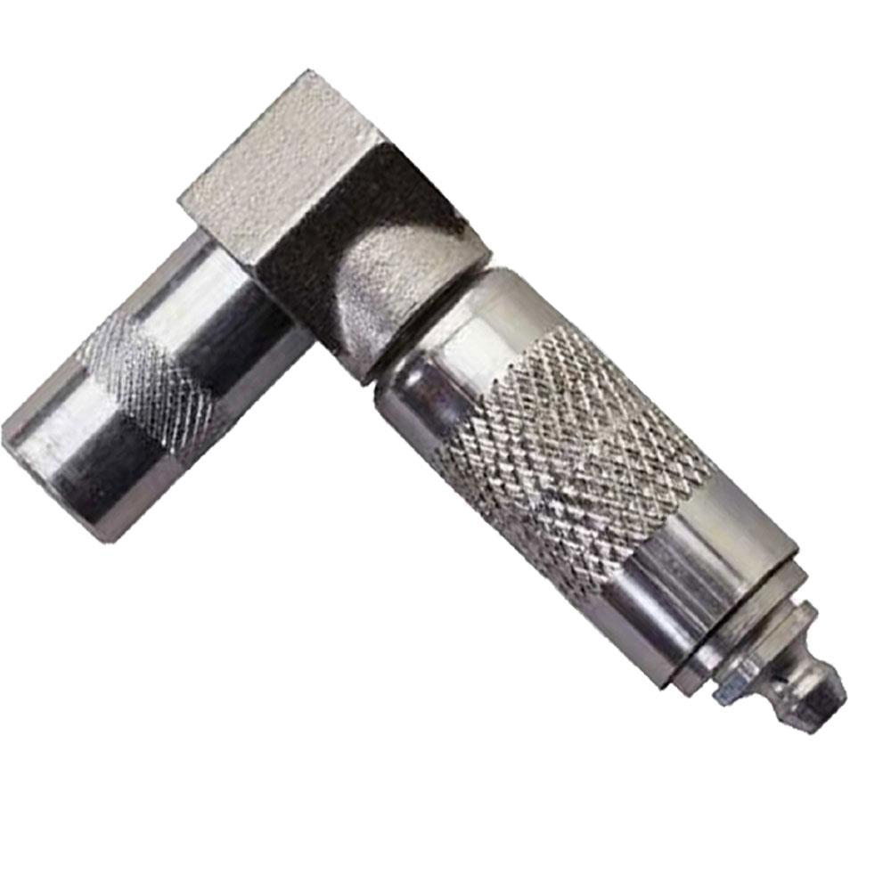 Milwaukee® M18™ 49-16-2648 Right Angle Grease Coupler, For Use With M18™ 2-Speed Cordless Grease Gun, 1/8 in NPT, 9/16 in Fitting Wrench, 10000 psi, Metal