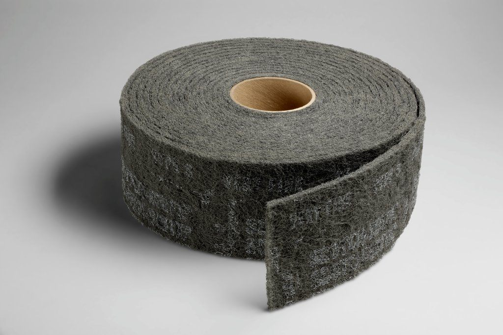 3M™ 048011-00270 CF-RL Clean and Finish Roll, 30 ft L x 4 in W, Very Fine Grade, Silicon Carbide Abrasive