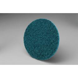 3M™ Roloc™ 048011-05530 SC-DR Non-Woven Soft Surface Conditioning Disc, 3 in Dia Disc, Very Fine Grade, Aluminum Oxide Abrasive, Type TR Attachment