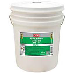 CRC® 04254 Combustible Gear Oil, 5 gal Pail, Mild Odor/Scent, Liquid Form, Food/SAE 140 Grade, Clear