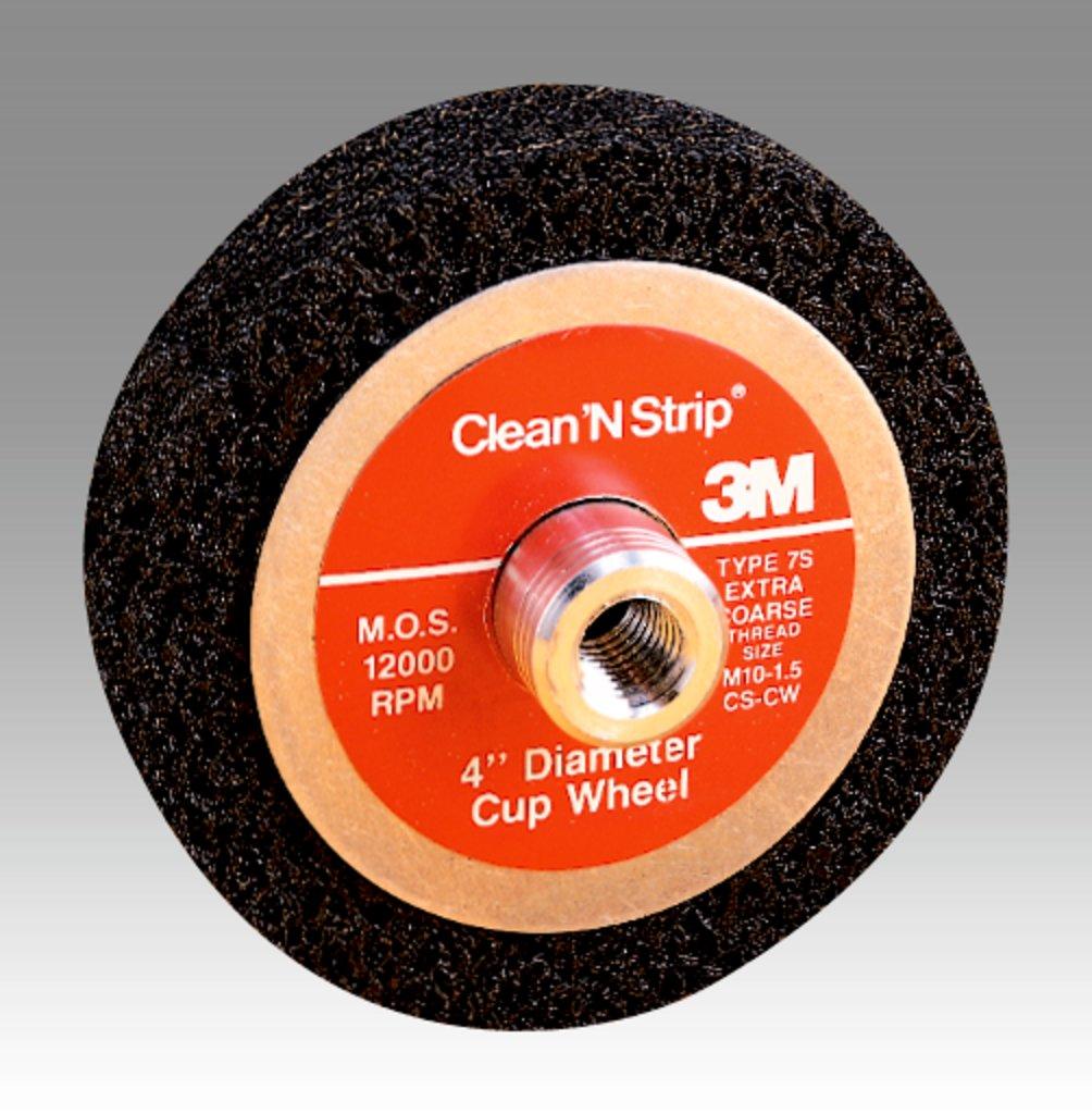 3M™ 048011-04153 CS-UC Non-Woven Unitized Cup Wheel, 4 in Dia Wheel, 1 in W Face, Extra Coarse Grade, Silicon Carbide Abrasive