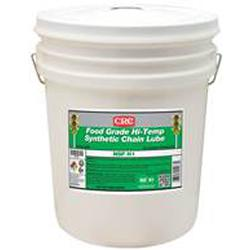 CRC® 04267 Combustible High Temperature Synthetic Chain Lubricant, 5 gal Pail, Liquid, White, 0.95