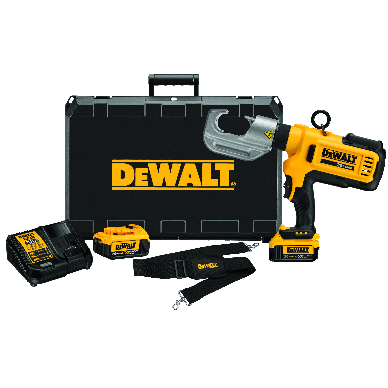DeWALT® DCE300M2 U-Type Die Cable Crimping Tool Kit, 750 kcmil Cu/Al Crimping, 12 ton Crimping, 20 VDC, Lithium-Ion Battery