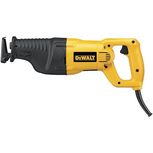 DeWALT® DW310K Corded Twist Keyless Reciprocating Saw Kit, 1-1/8 in L, 0 to 2700 spm, 18 in OAL