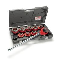 RIDGID® 36480 12-R Exposed Ratchet Threader Set With Carrying Case, 1/2 to 1-1/4 in, NPT Thread