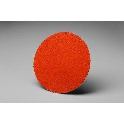 3M™ 051144-76631 777F Close Close Coated Abrasive Disc, 3 in Dia Disc, 36 Grit, Very Coarse Grade, Ceramic Abrasive, Type TR Attachment