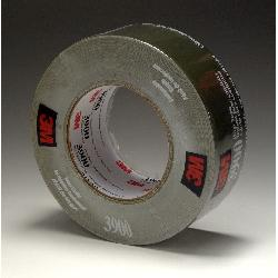 3M™ 3900-Olive Multi-Purpose Duct Tape, 54.8 m L x 48 mm W, 7.6 mil THK, Rubber Adhesive, Polyethylene Over Cloth Scrim Backing, Olive