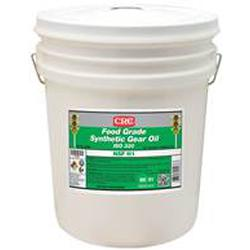 CRC® 04236 Combustible Synthetic Gear Oil, 5 gal Pail, Mild Odor/Scent, Liquid Form, Food/SAE 60/ISO 320 Grade, Clear