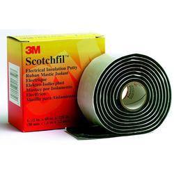 3M™ Scotchfil™ SCOTCHFIL-PUTTY Electrical Tape, 60 in L x 1-1/2 in W, 125 mil THK, Mastic Adhesive, Putty Backing