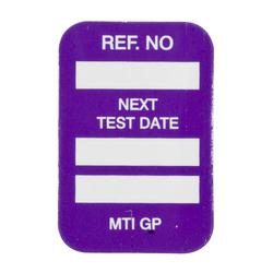 Brady® 104147 Rectangle Insert Tag, 1-3/4 in H x 1-1/4 in W, White on Purple, B-874 Plastic