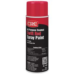 CRC® 18000 All Purpose Enamel Extremely Flammable Spray Paint, 16 oz, Liquid, Swift Red, 10 to 12 sq-ft, 1 hr Curing