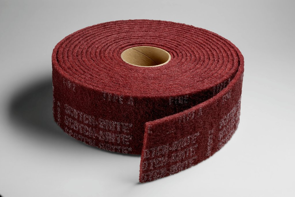 3M™ 048011-00275 CF-RL Clean and Finish Roll, 30 ft L x 6 in W, Fine Grade, Aluminum Oxide Abrasive