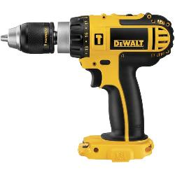 DeWALT® DCD775B Compact High Performance Cordless Hammer Drill, 1/2 in Metal Ratcheting Chuck, 18 VDC, 0 to 500 rpm, 0 to 1700 rpm No-Load, Lithium-Ion Battery