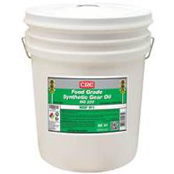 CRC® 04232 Combustible Synthetic Gear Oil, 5 gal Pail, Mild Odor/Scent, Liquid Form, Food/SAE 50/ISO 220 Grade, Clear