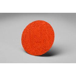 3M™ 051144-80510 777F Close Close Coated Abrasive Disc, 1 in Dia Disc, P120 Grit, Fine Grade, Ceramic Abrasive, Type TR Attachment