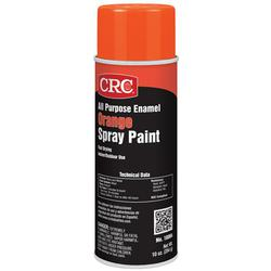 CRC® 18004 All Purpose Extremely Flammable Spray Paint, 16 oz Container, Liquid Form, Orange, 16 to 22 sq-ft Coverage, 72 hr Curing