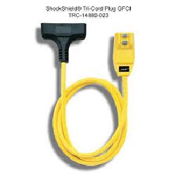 Southwire® Surge Guard® 14880023-6 1-ph Type SJTW-A Heavy Duty Right Angle GFCI Plug Tri-Cord, 120 VAC, 15 A, 12 AWG Conductor, 3 Outlets