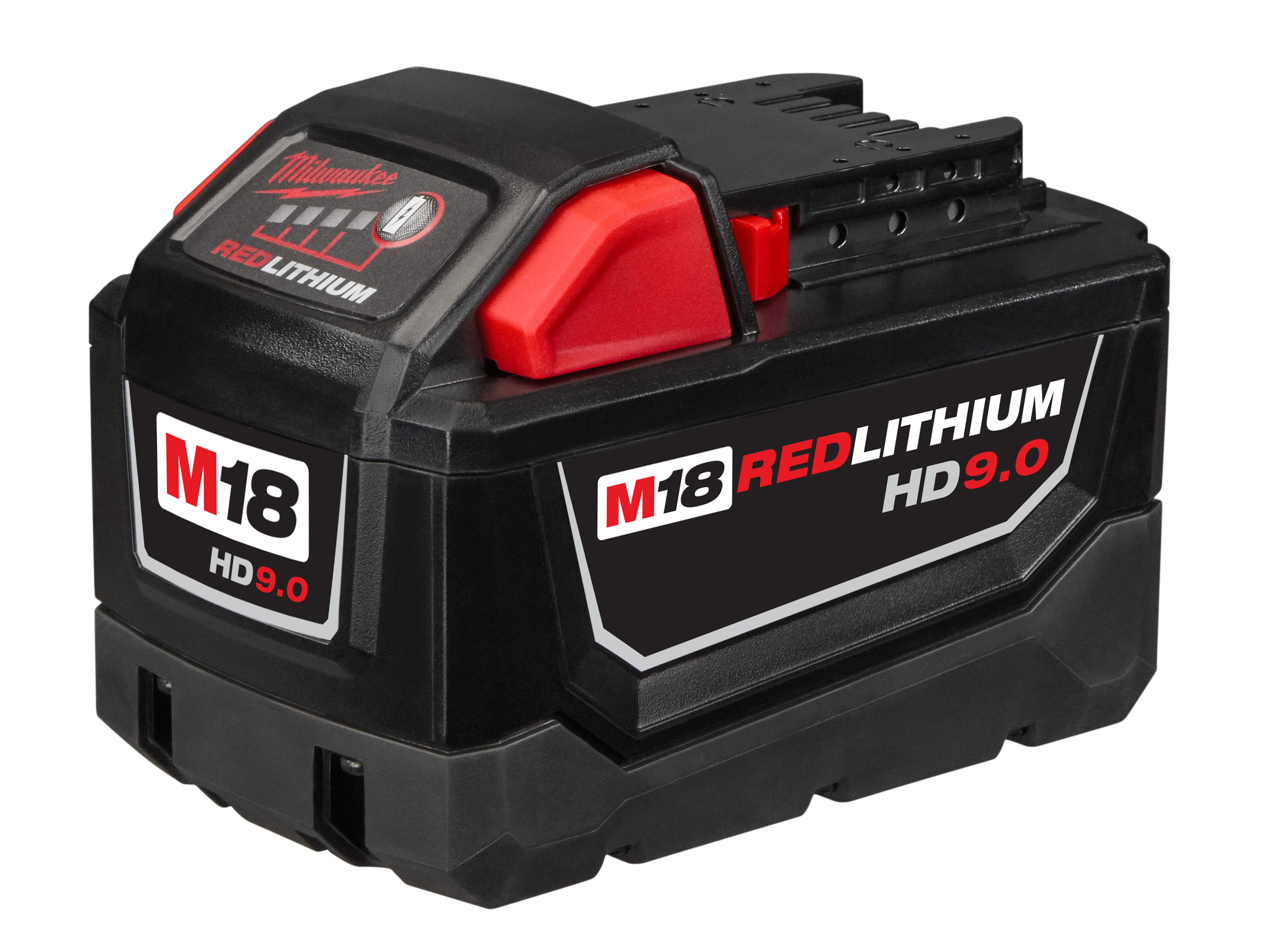 Milwaukee® M18™ REDLITHIUM™ 48-11-1890 HIGH DEMAND™ Cordless Battery Pack, 9 Ah Lithium-Ion Battery, 18 VDC Charge, For Use With Milwaukee® 18 V Cordless Tools