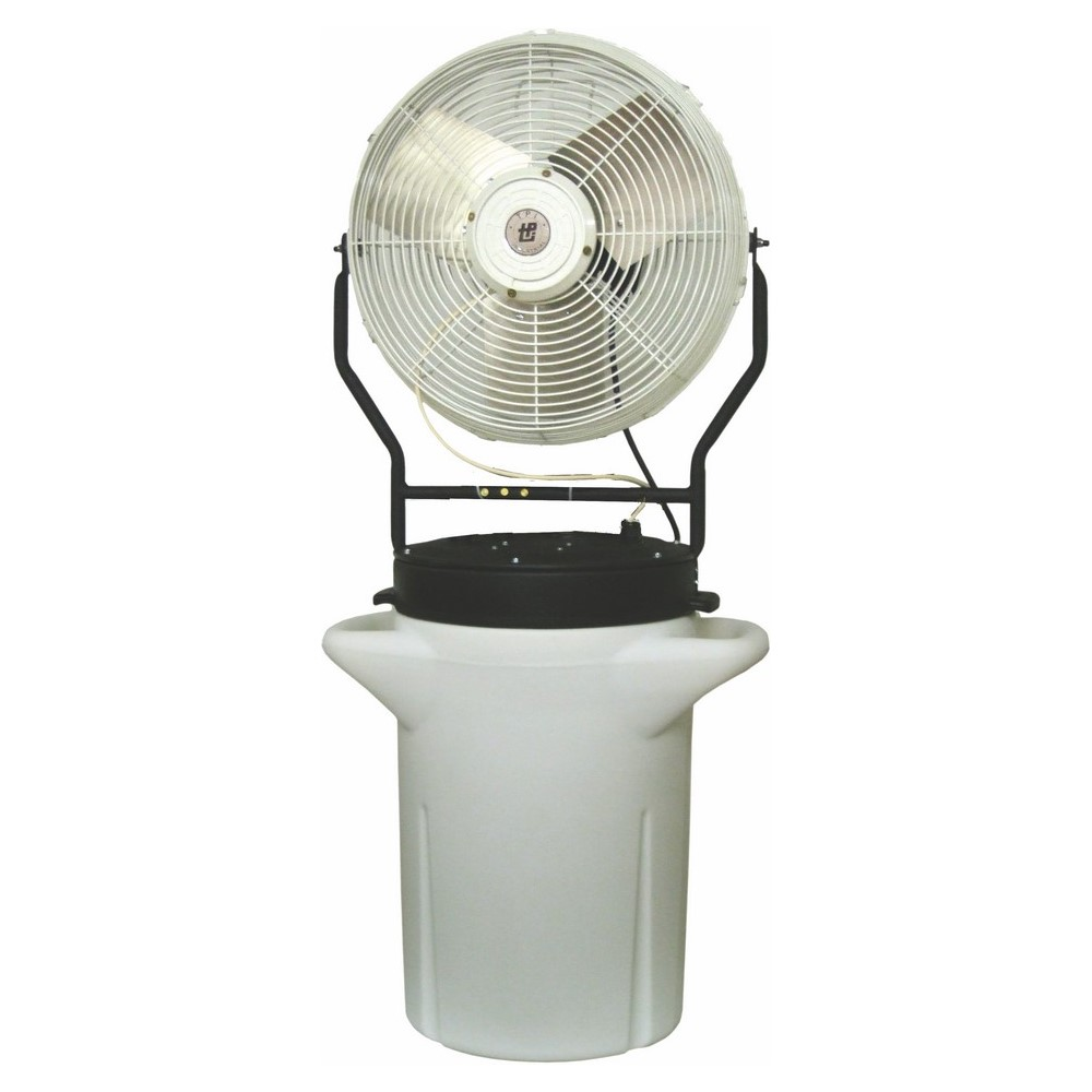 TPI PM18S 1-Phase Portable Self-Contained Hand Carry Power Misting Fan, 18 in Blade, 5750 cfm Flow Rate, 120 VAC, 2.2 A, Domestic