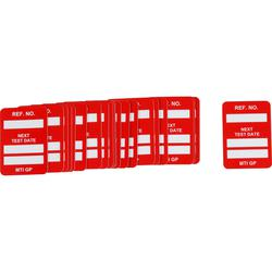 Brady® 104148 Rectangle Insert Tag, 1-1/4 in H x 1-1/4 in W, White on Red, B-874 Plastic