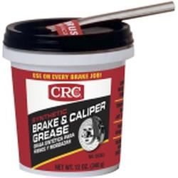 CRC® 05353 Brake Caliper Non-Flammable Synthetic Grease With Brush, 12 oz Tub, Semi-Solid Grease, Dark Gray, -30 to 600 deg F