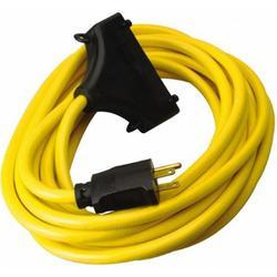 CCI® 26020008-6 In-Line Protected GFCI Tri-Cord, 120 VAC, 15 A, 1 Pole, 3 Wires, Yellow