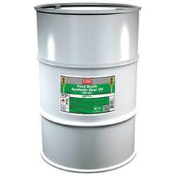 CRC® 04233 Combustible Synthetic Gear Oil, 55 gal Drum, Mild Odor/Scent, Liquid Form, Food/SAE 50/ISO 220 Grade, Clear