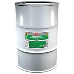 CRC® 04237 Combustible Synthetic Gear Oil, 55 gal Drum, Mild Odor/Scent, Liquid Form, Food/SAE 60/ISO 320 Grade, Clear