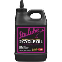 Sta-Lube® SL2262 Combustible Universal 2-Cycle Oil, 32 oz Bottle, Liquid Form, Amber, 0.883
