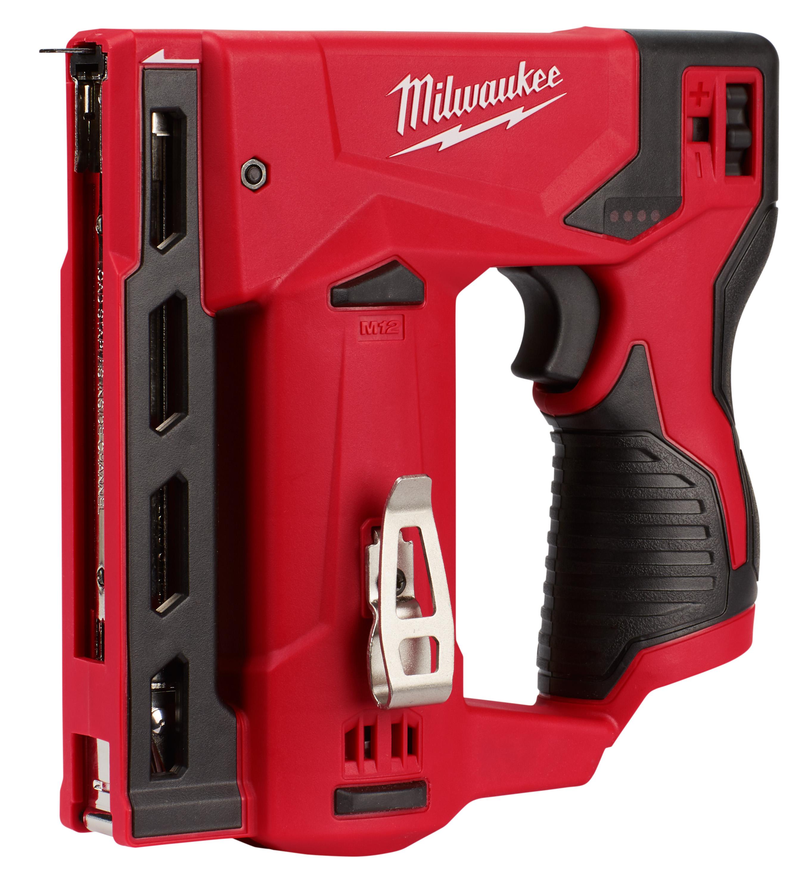 Milwaukee® 2447-20 Flat Crown Crown Stapler, 3/8 in W Crown, 89 Staple, For Fastener Type: Staples, 7-1/4 in OAL, M18™ REDLITHIUM™ Battery