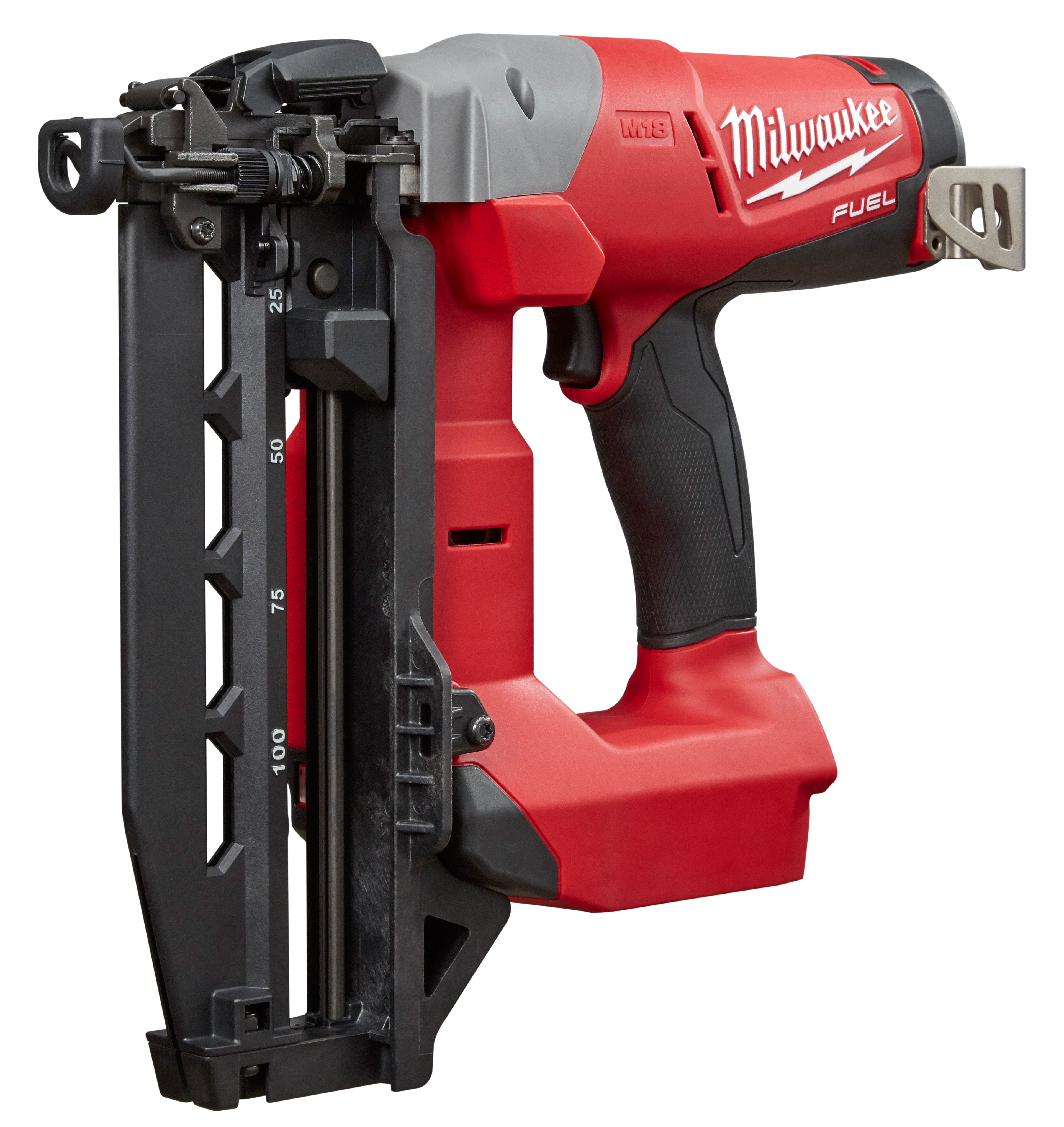 Milwaukee® M18™ FUEL™ 2741-20 16 ga Straight Finish Cordless Nailer, 3/4 to 2-1/2 in Fastener, 110 Nails Nails Magazine, 11-29/32 in OAL, Battery
