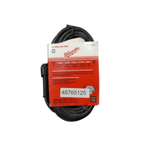Milwaukee® QUIK-LOK™ 48-76-5125 2-Wire Round Power Supply Cord, 125 VAC, 14 AWG, NEMA 1-15P
