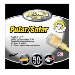 Southwire® Polar/Solar® 1788SW0002 1788 Type SJEOW Insulated All Purpose Extension Cord With Power Indicator Light, 125 VAC, (3) 10 AWG Bare Copper Conductor, 50 ft L