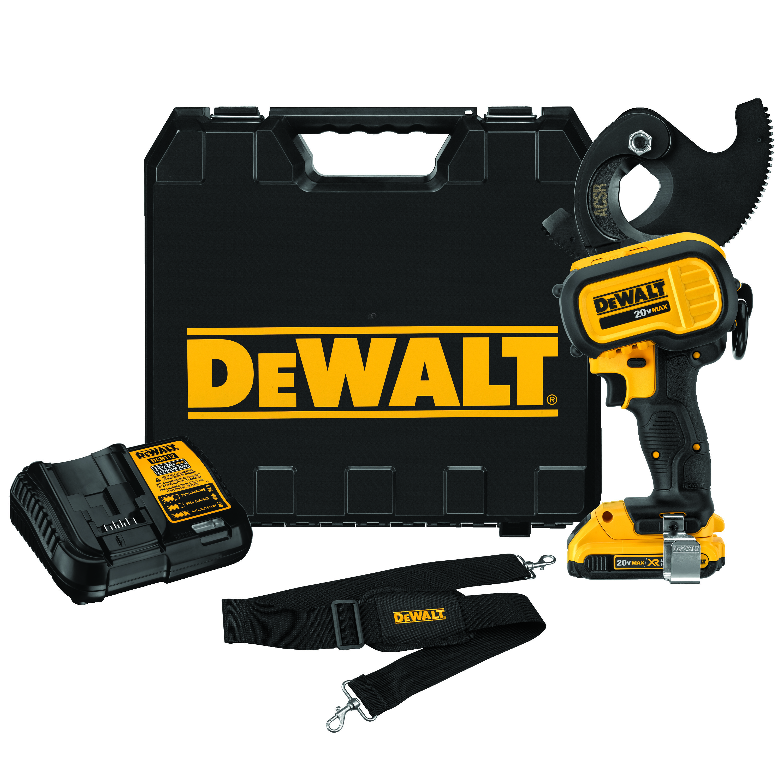 DeWALT® DCE155D1 Cordless Cable Cutting Tool Kit, 1590 ACSR/750 kcmil Copper/1000 kcmil Aluminum Cutting, 20 VDC, Lithium-Ion Battery