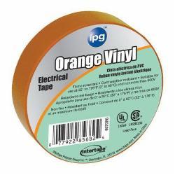 ipg® 85834 Medium-Grade Electrical Tape, 60 ft L x 3/4 in W, 7 mil THK, Vinyl, Rubber Adhesive, Orange