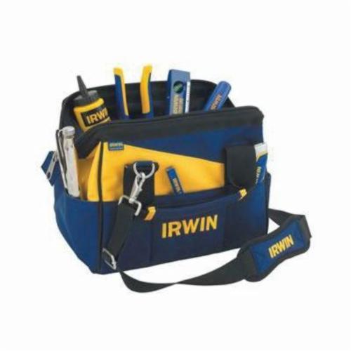 Irwin® 4402019 Soft Sided Contractors Bag, 8 in H x 12 in W x 12 in D, 1000 Denier Nylon