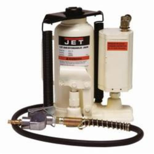JET® 456612 AHJ Heavy Duty Air/Hydraulic Bottle Jack, 12 ton Load, 9-2/3 in, 18-2/3 in, 4-1/2 in, 3-1/8 in Screw Length