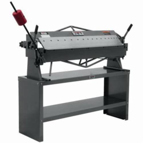 JET® 754105 Box and Pan Brake, 50 in L Bending, 16 ga Mild Steel, 4 in Max Depth of Box, Bench Mount