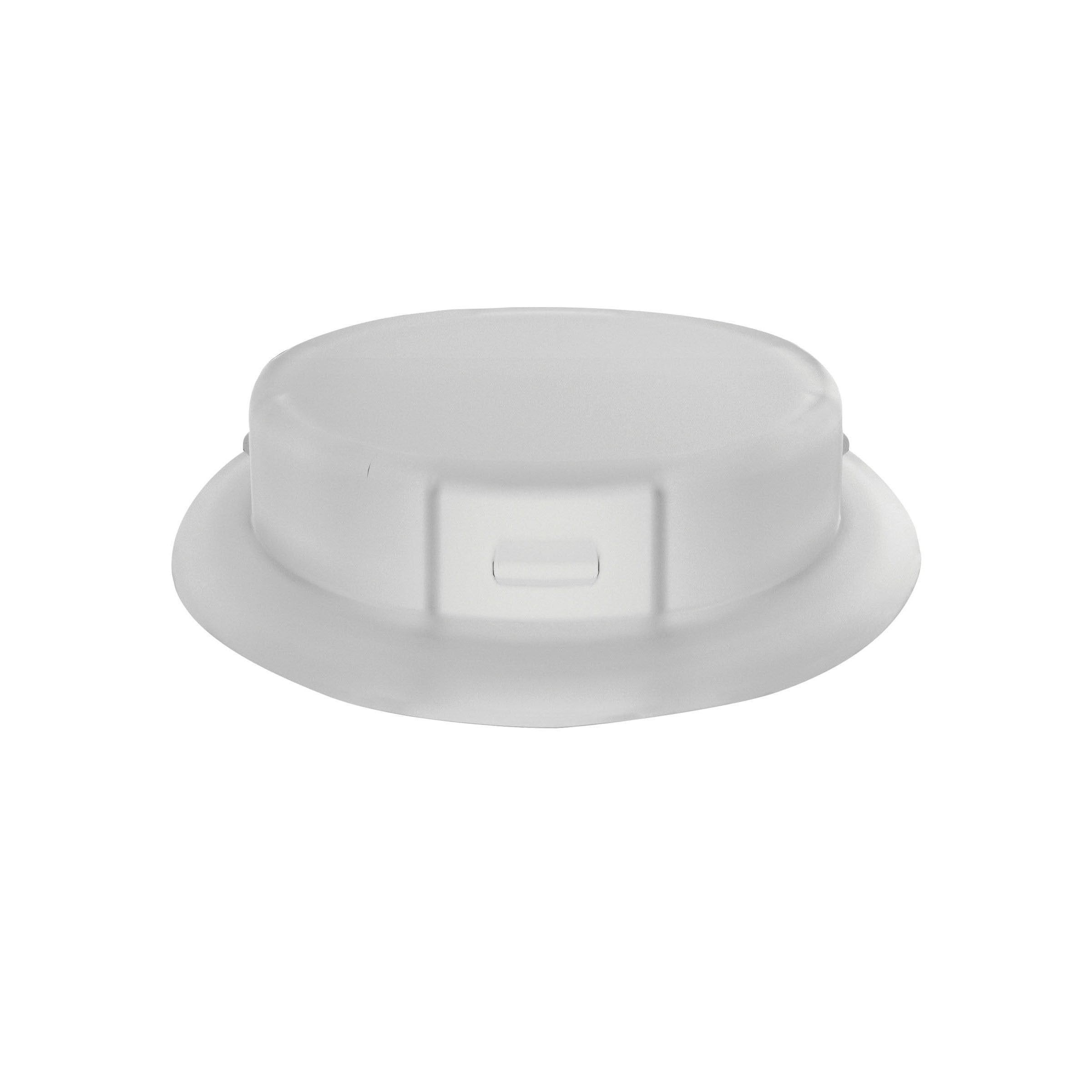 Justrite® 12863 Closed Carboy Cap Adapter, 3.2 in Dia x 53 mm Mouth, Polypropylene, White