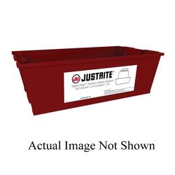 Justrite® 12955 Spill Basin, 3.7 gal, 18 in L x 11 in W x 6 in H, HDPE